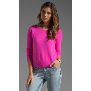 Equipment | Cashmere Neon Pink Pullover Sweater